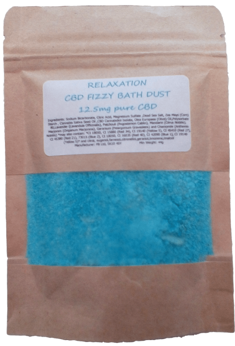Relaxation CBD Hemp Oil Aromatherapy Fizzy Bath Dust - 12.5mg